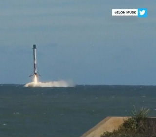 SpaceX Falcon 9 cargo rocket missing Cape Canaveral landing site