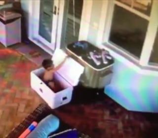Watch Florida boy's rescue after getting locked in Igloo cooler