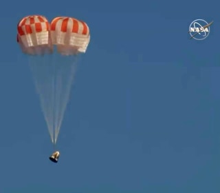 SpaceX's Crew Dragon capsule returns to Earth after historic test flight
