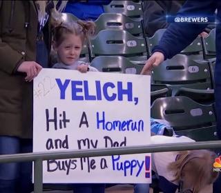 Baseball superstar's home run earns young fans a puppy