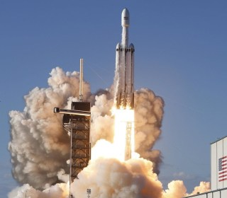 SpaceX launches Falcon Heavy, its most powerful rocket