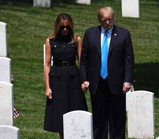 President Trump and Melania visit Arlington National Cemetery