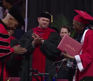 99-year-old WWII veteran walks at graduation 70 years after earning her degree