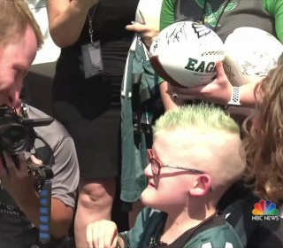 The emotional moment an NFL player met his biggest fan