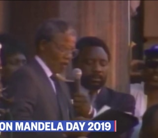 Watch archive footage of Nelson Mandela's release