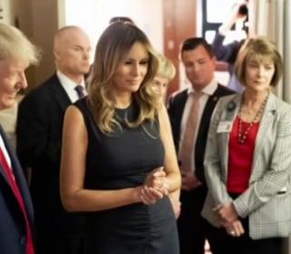Trump visits grief-stricken El Paso and Dayton