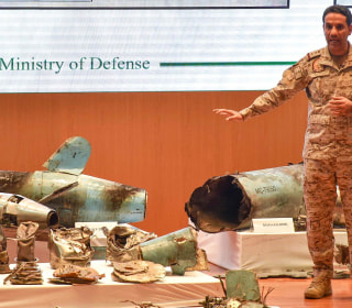 Saudis show missile wreckage, blame Iran for oil attacks