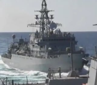 Watch as Russian warship nearly collides with U.S. Navy destroyer