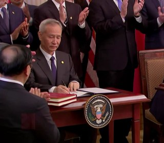 Trump signs 'Phase 1' of trade deal with China