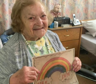 Kids sending smiles to senior citizens with cards and videos