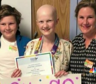 Community cheers on 15-year-old after final round of chemotherapy