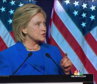 Clinton Makes Case for White House as Biden Buzz Intensifies