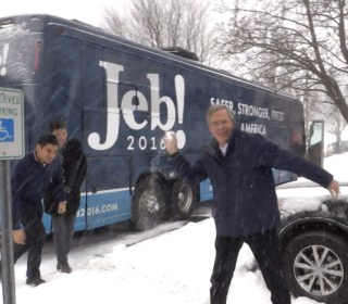 Jeb Bush Hurls Snowball at NBC News Reporter