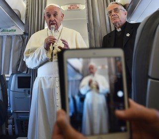 No Holy Water on the In-Flight Menu: Traveling With Pope Francis