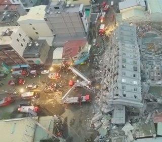 Drone Video Captures Extent of Taiwan Quake Destruction