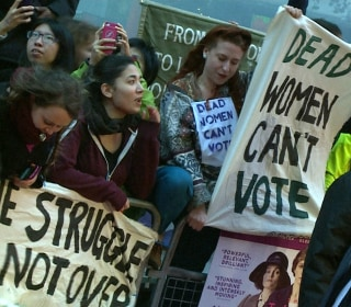 Modern Day Suffragettes Ambush 'Suffragette' Movie Red Carpet