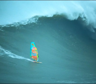 Watch Windsurfer Take On the Big Waves off Portugal