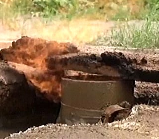 WATCH: Water Well Burns After Drilling, Cigarette Sparks Natural Gas