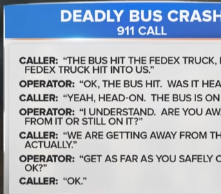 Officials Release 911 Calls in Deadly Bus Crash