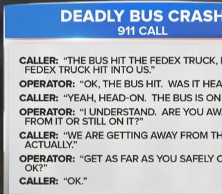 Officials Release 911 Calls in Deadly Bus Crash