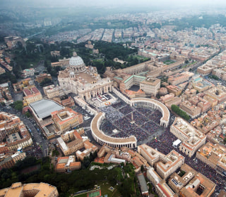 Huge Crowd Overflows St. Peter's for Historic Canonization