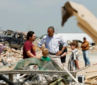 President Obama Tours Tornado-Ravaged Arkansas, Pledges Support