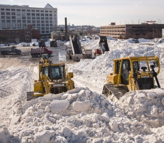 'Is It Spring Yet?': Boston 'Snow Farm' Preps for Second Wallop