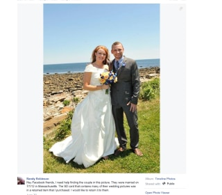 Kristi and Bill Wilson Say They're Mystery Couple in Viral Wedding Pic