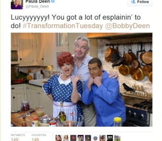 Paula Deen Catches Heat for Tweet of Son, Bobby Deen, in Brownface