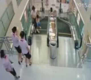 Escalator Kills Mom at Mall in Jingzhou, China; Workers Save Son
