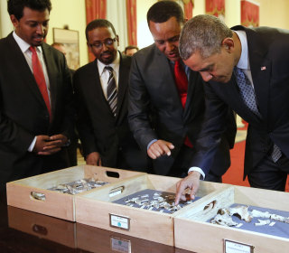'That's Amazing': Obama Meets Ancient Ancestor 'Lucy' on Ethiopia Trip