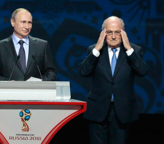 Russia's Vladimir Putin Says FIFA's Sepp Blatter Deserves a Nobel Prize