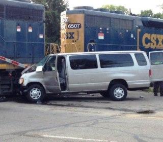 One Killed, Nine Injured as Bible School Van Rams Train in Ohio