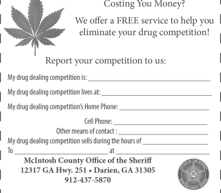 Georgia Sheriff's Ad Invites Drug Dealers to Rat Out Rivals
