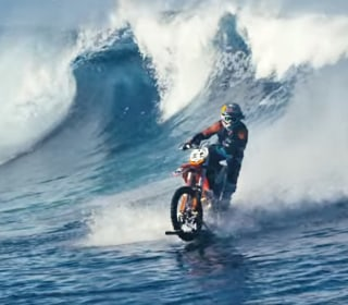 Motocross Rider 'Surfs' in Tahiti on His Bike