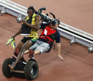 Usain Bolt Wins Another Race, Then Gets Flattened by a Segway