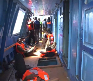 Footage Shows Refugees Fighting for Their Lives Aboard Boat Off Libya