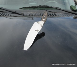 Zachary Jacobson Stabs Police Car in Fountain Hills, Arizona: Cops