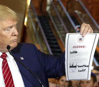 Donald Trump Pledges to Forgo Third-Party Run