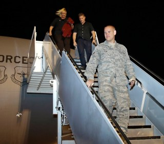 Spencer Stone, American Airman Who Stopped Train Attacker, Arrives in U.S.