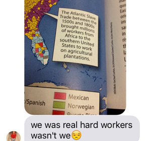 Mother Shares Textbook Describing African Slaves as 'Workers'