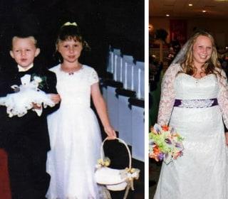 Flower Girl, Ring Bearer Walk Wedding Aisle 17 Years Later as Bride and Groom