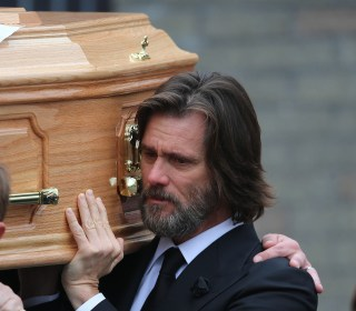 Jim Carrey Carries Ex-Girlfriend's Coffin at Funeral in Ireland