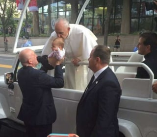 Baby Kissed by Pope Sees Brain Tumor Shrink, Family Says