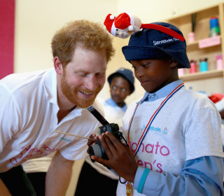 Prince Harry Visits Lesotho for Children's Center Opening