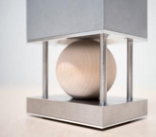 Steel Speaker Transmits Sound Using a Wooden Sphere