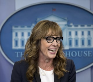 Allison Janney Shows Up at White House Press Briefing as 'West Wing's' C.J. Cregg
