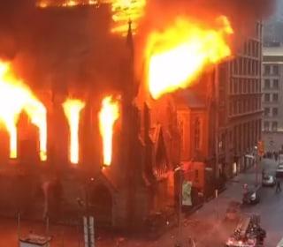 Massive Fire Ravages Historic New York Church