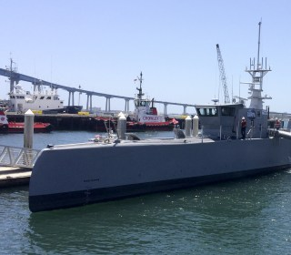 Pentagon Tests Out 'Sea Hunter,' 132-Foot Robot Ship