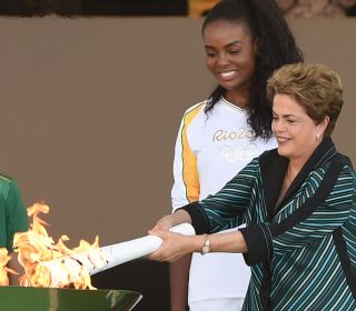 Rio 2016: Olympic Flame Arrives in Brazil from Athens